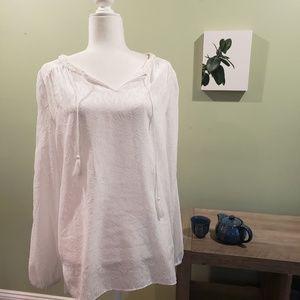 Taheri white tunic top